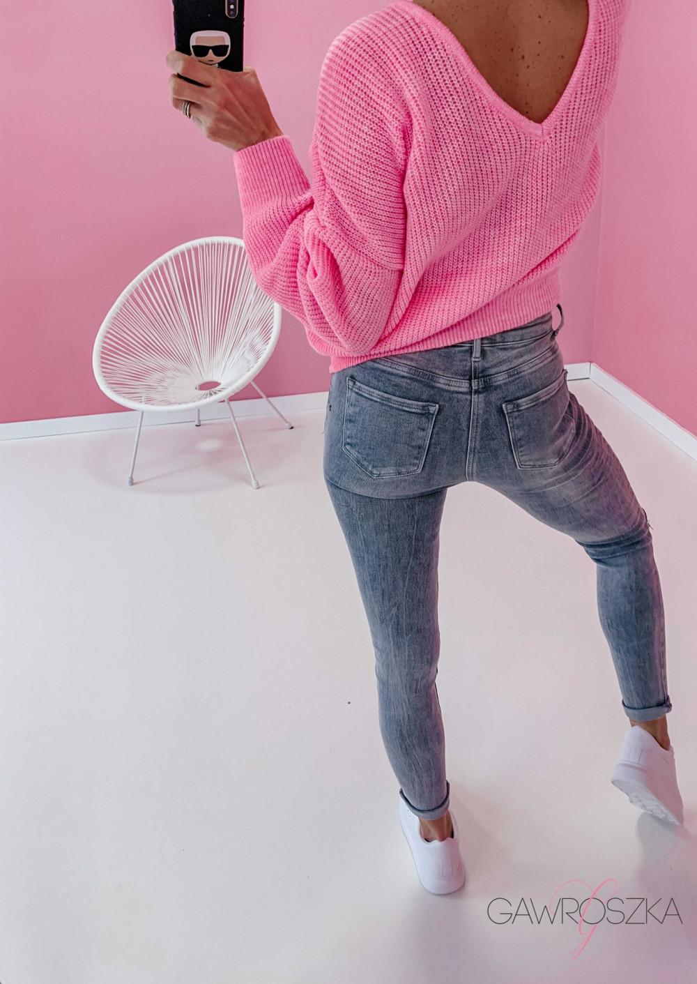Spodnie jeans z guzikami - GREY 4