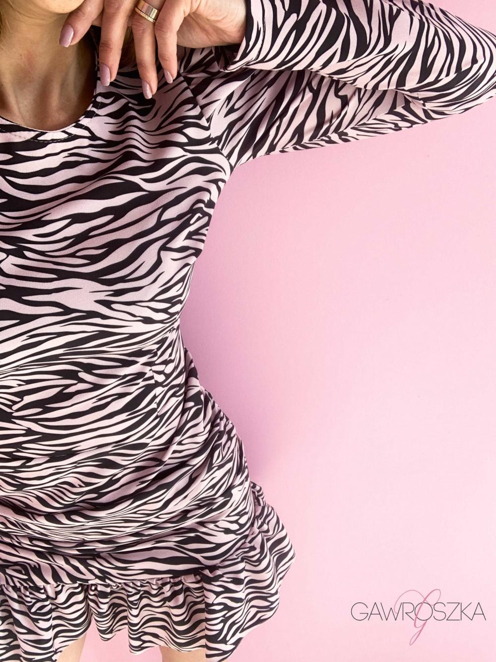 Sukienka Loren PREMIUM - zebra 2
