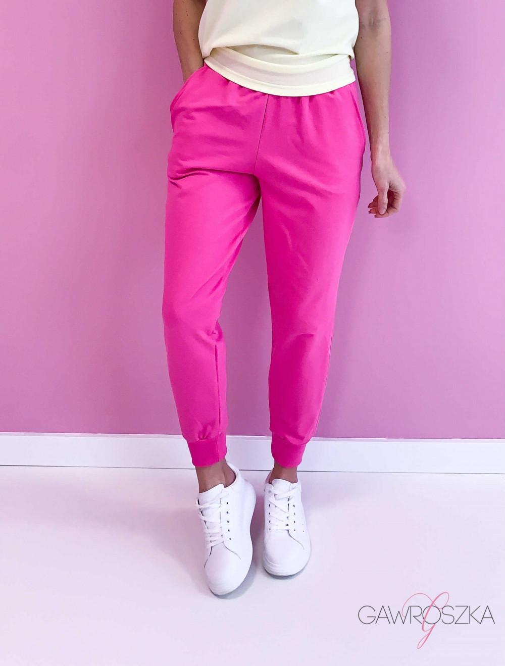 Spodnie dresowe - malinowe 1