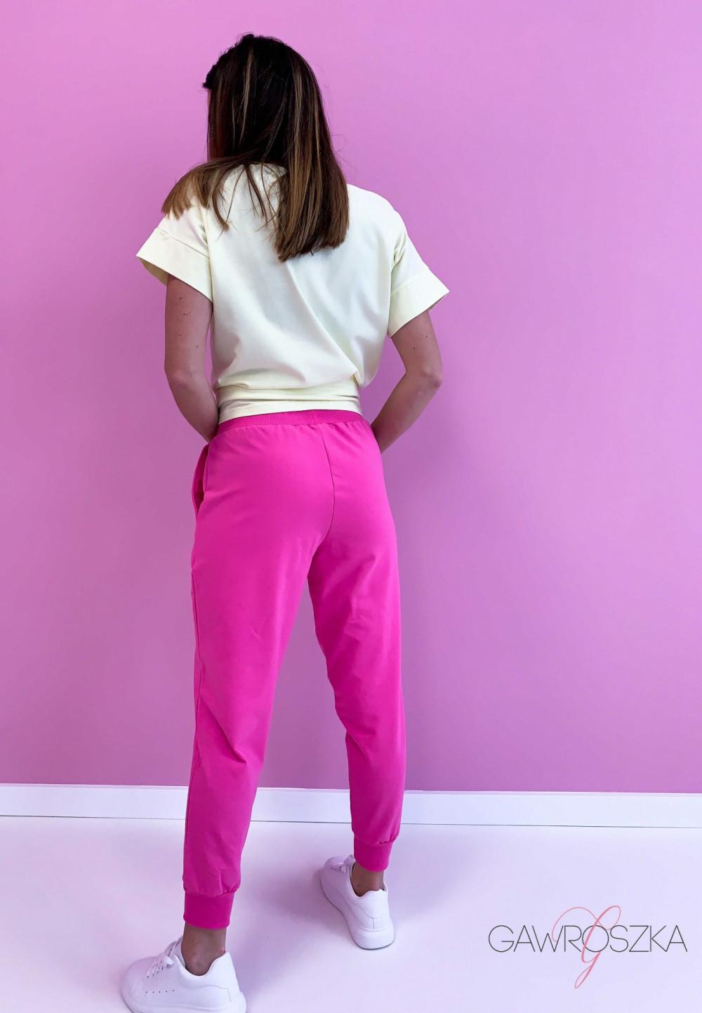Spodnie dresowe - malinowe 3