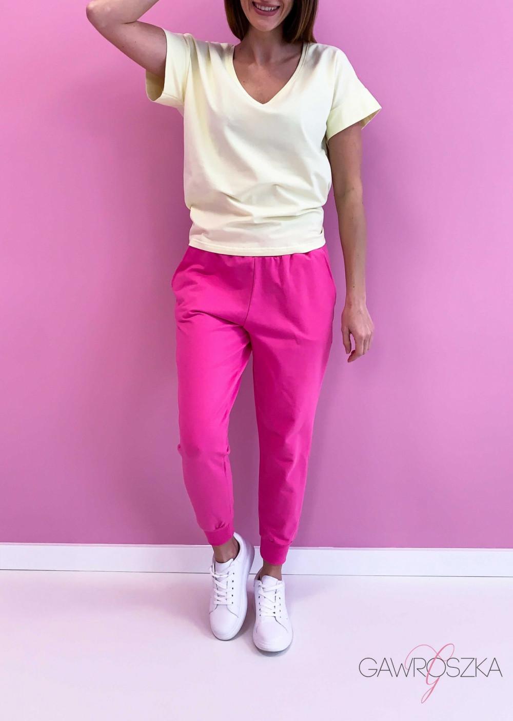 Spodnie dresowe - malinowe 4