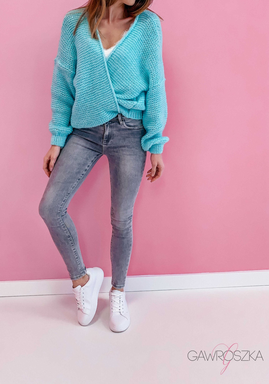 Spodnie jeans push up - szare 1
