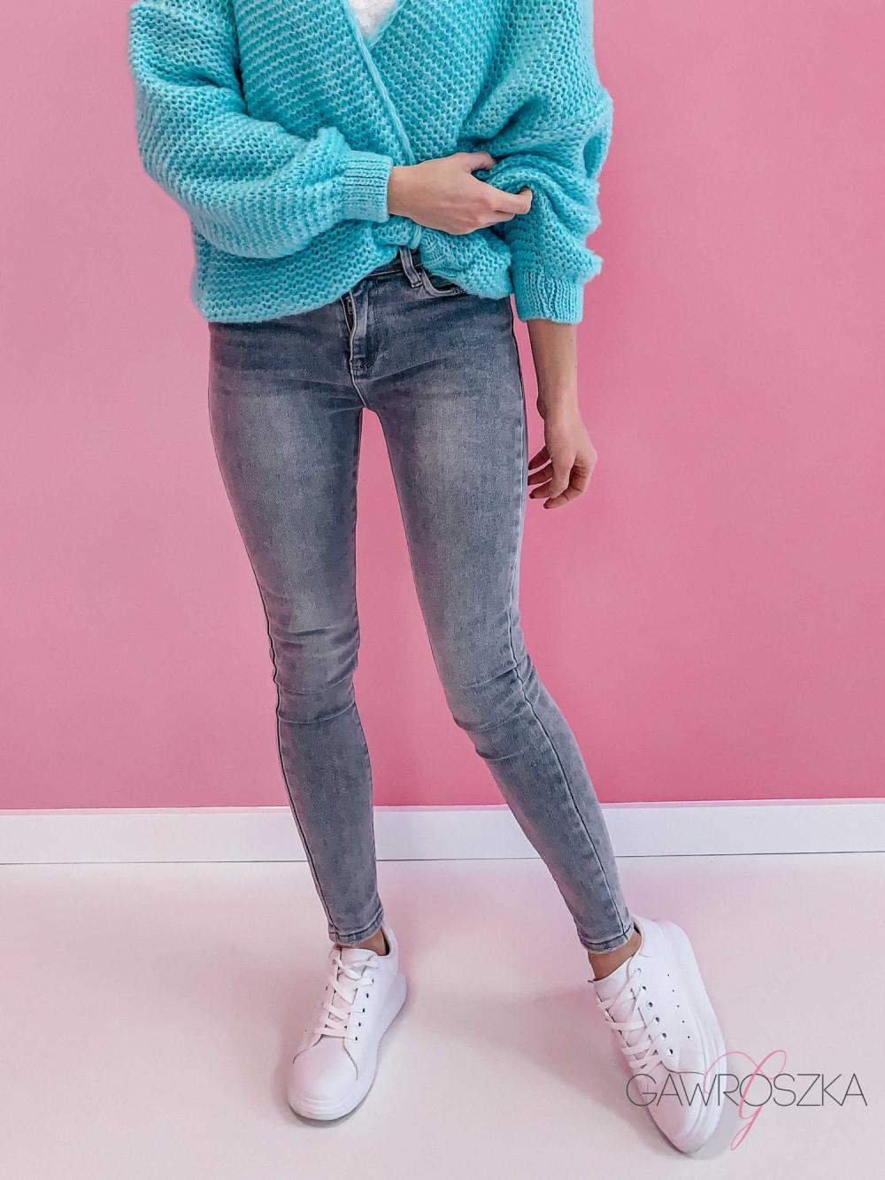 Spodnie jeans push up - szare 3