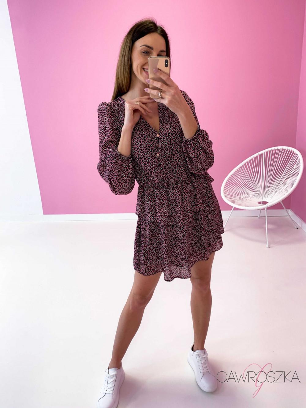 Sukienka Miluna neon centki 5