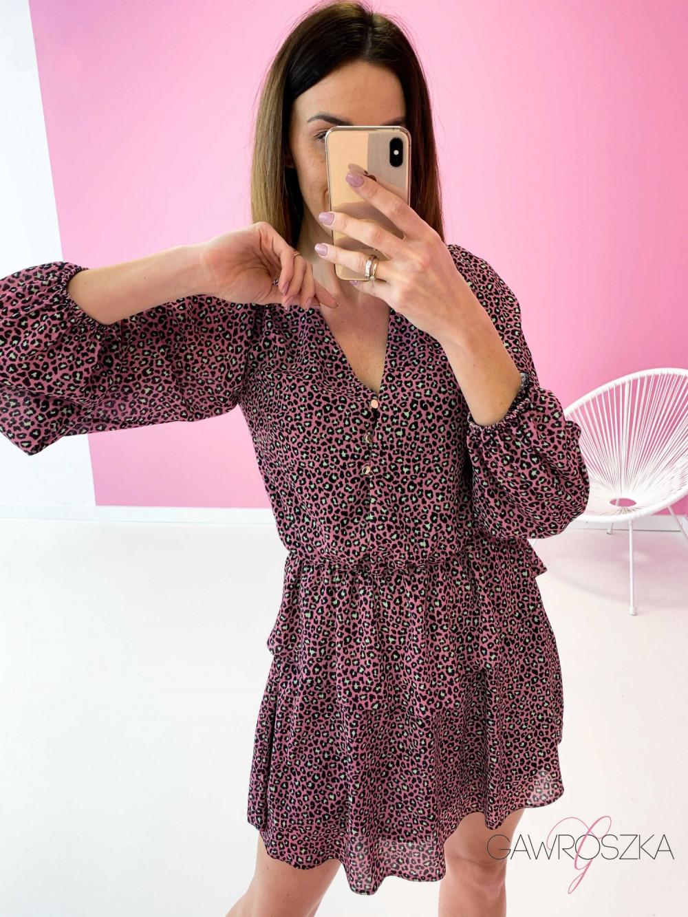 Sukienka Miluna neon centki 6