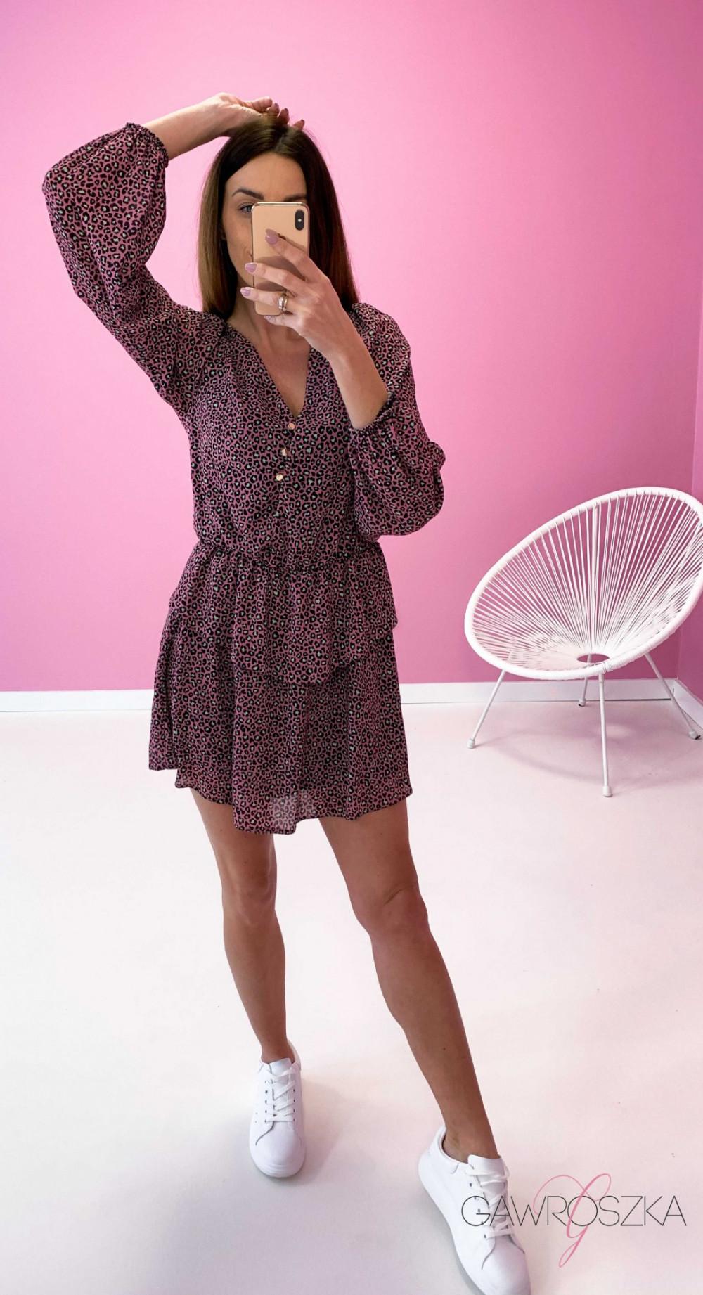 Sukienka Miluna neon centki 7