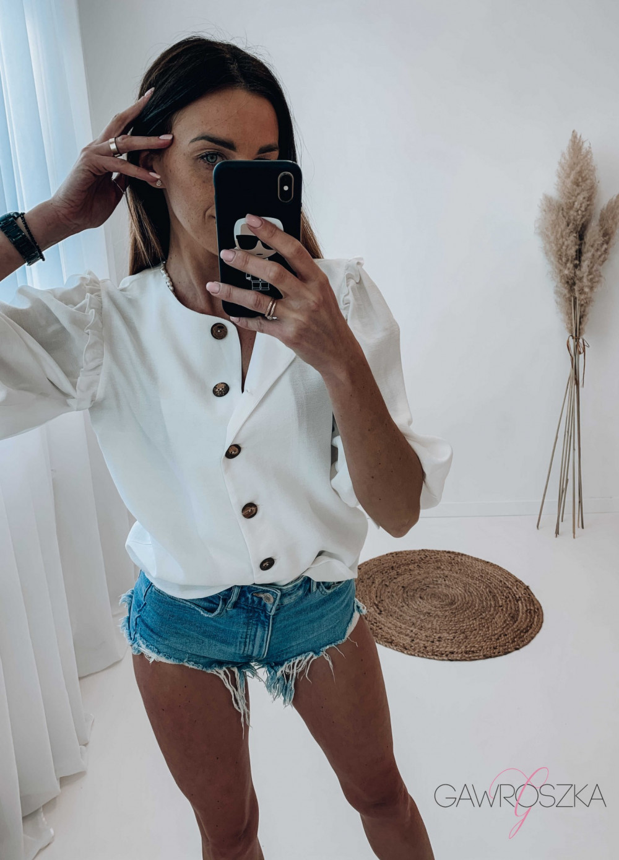 Bluzka BOHO - biała 3