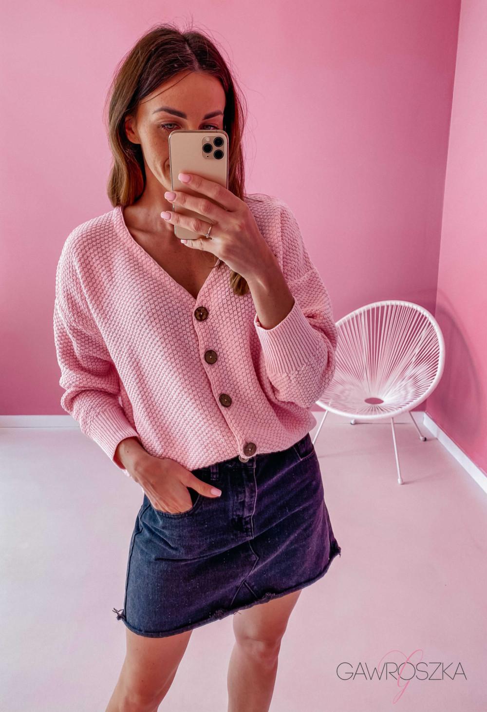 Sweter ryżyk premium - rożowy 1