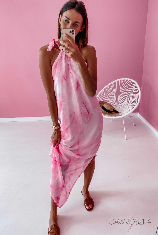 Sukienka Maxi - różowa 1
