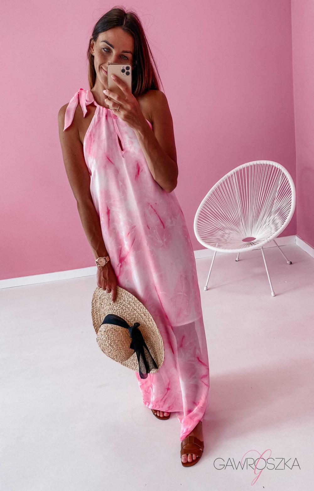 Sukienka Maxi - różowa 2