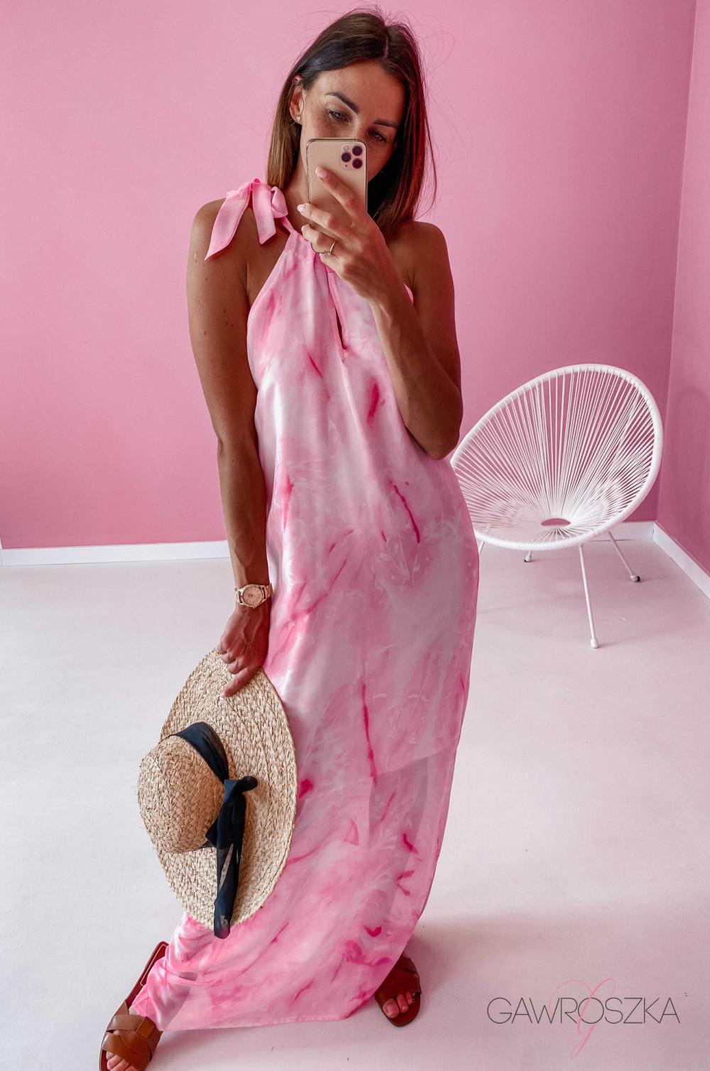 Sukienka Maxi - różowa 3