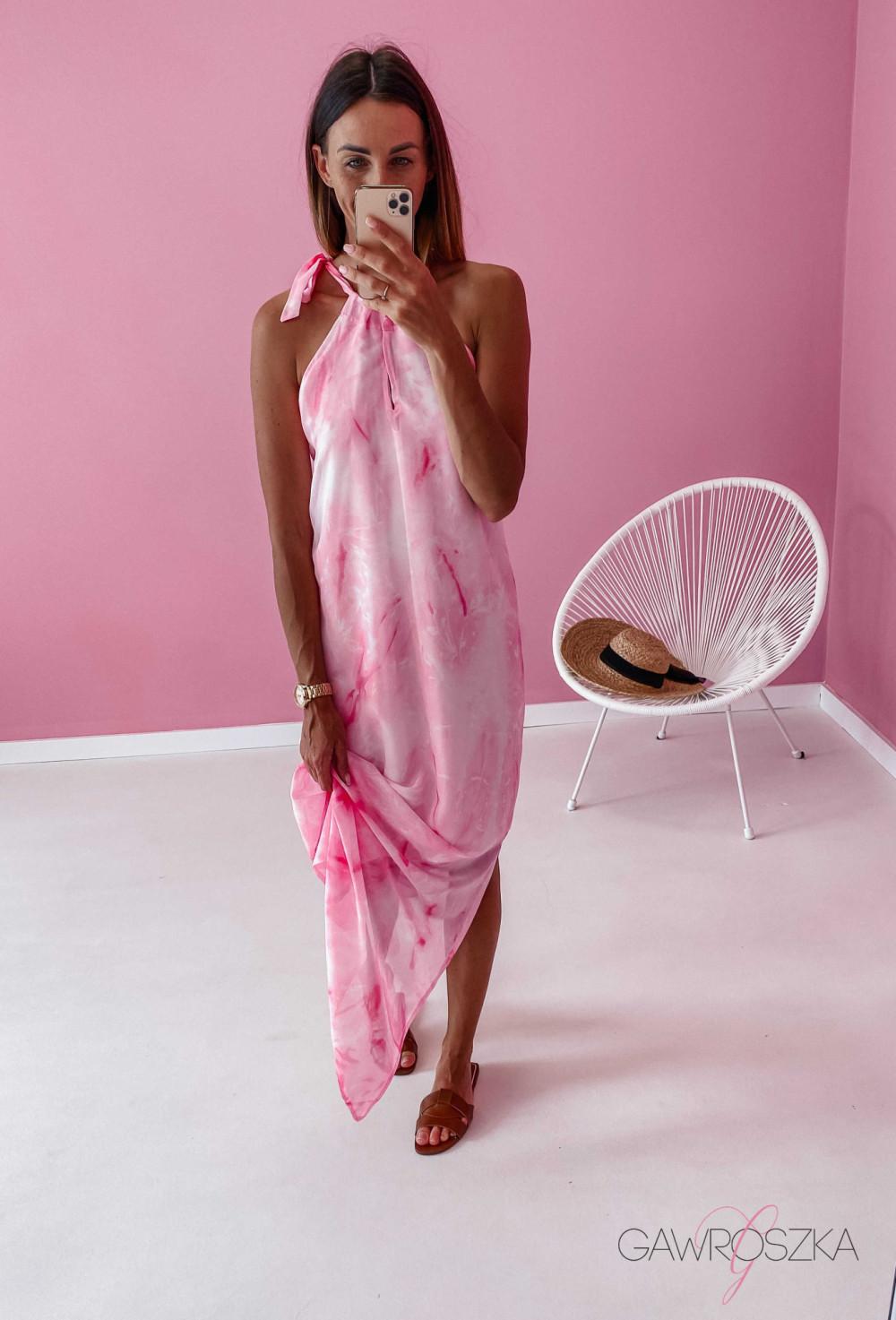 Sukienka Maxi - różowa 7