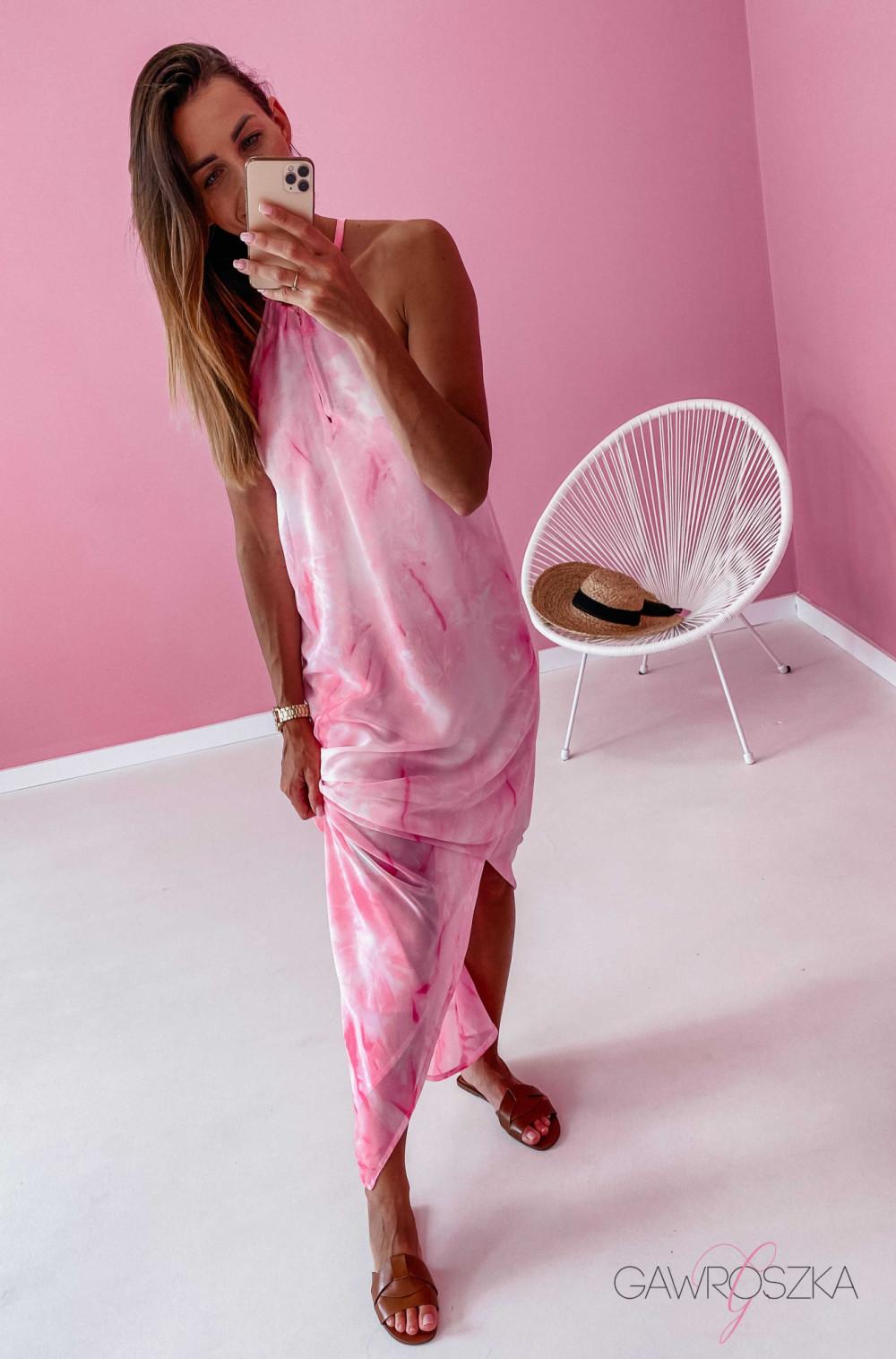 Sukienka Maxi - różowa 8