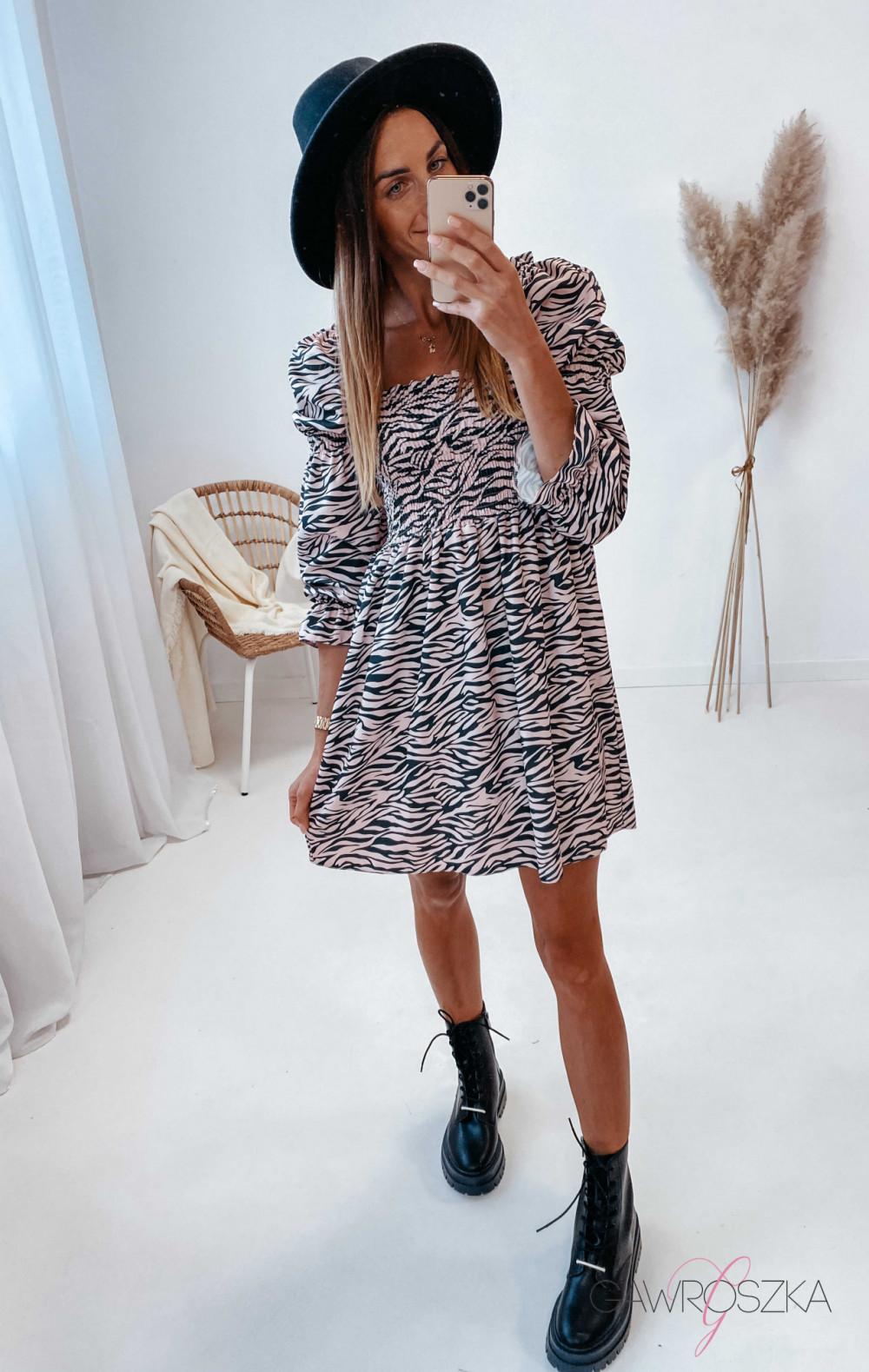 Sukienka Pola - zebra 4