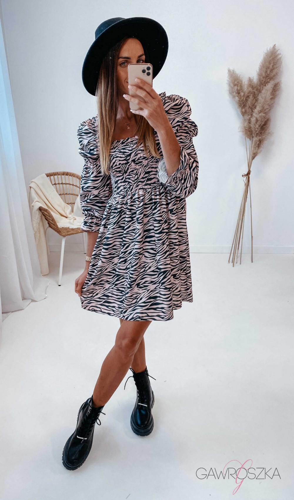 Sukienka Pola - zebra 1
