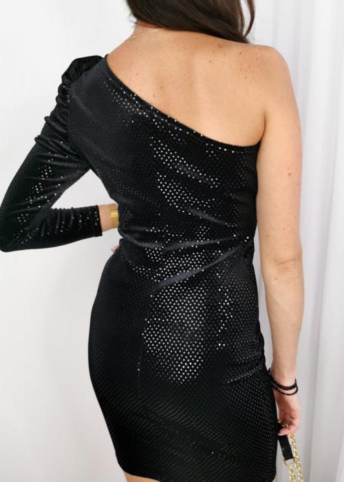 Sukienka na jedno ramie Dulce czarna