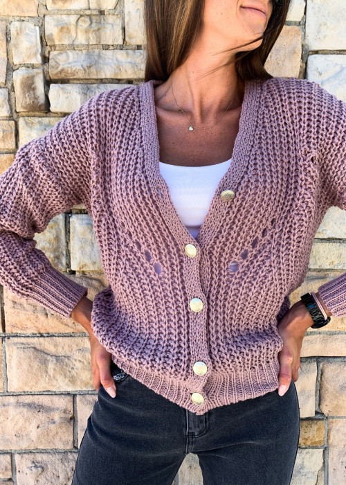 Sweter Milano premium - wrzos