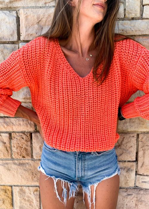 Sweter Malibu premium - orange
