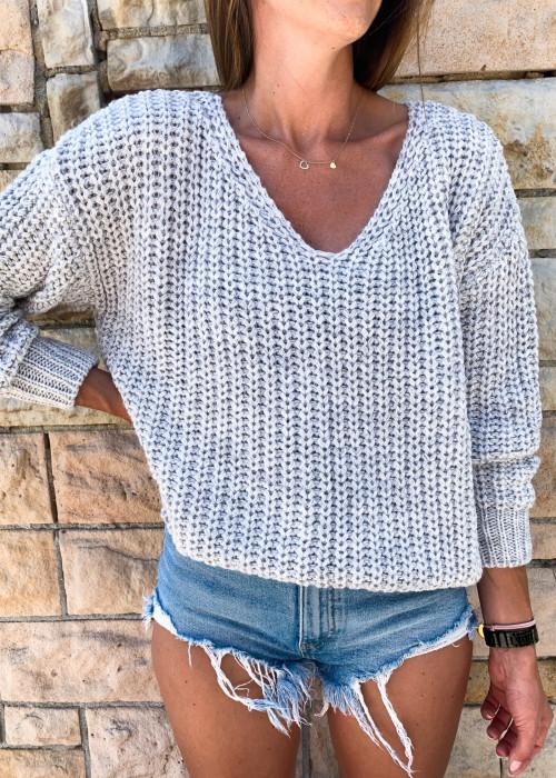 Sweter Malibu premium - jasny szary