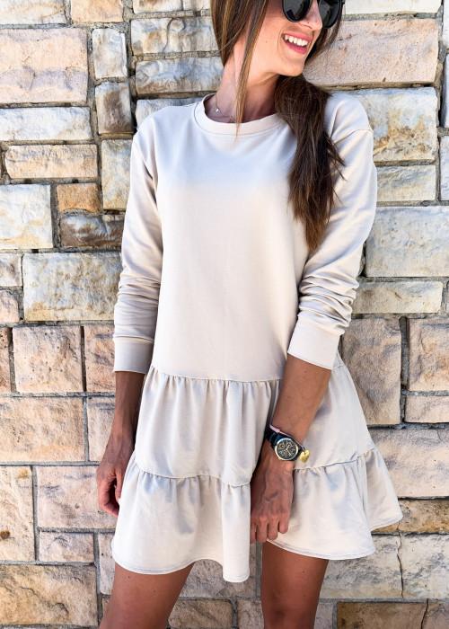 Sukienka dresowa Molly - beige