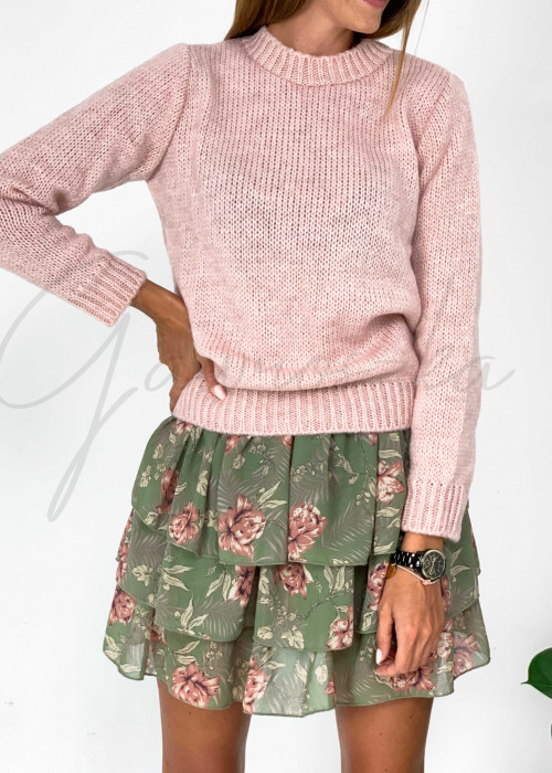 Sweter classic - puder