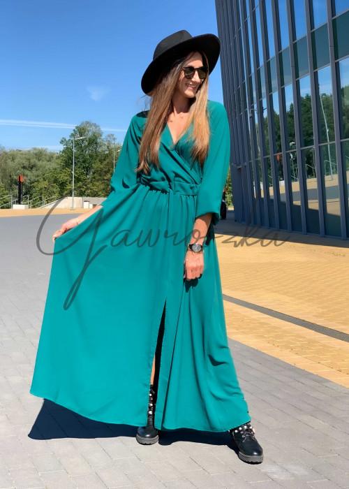 Sukienka Maxi Klara - butelkowa zieleń