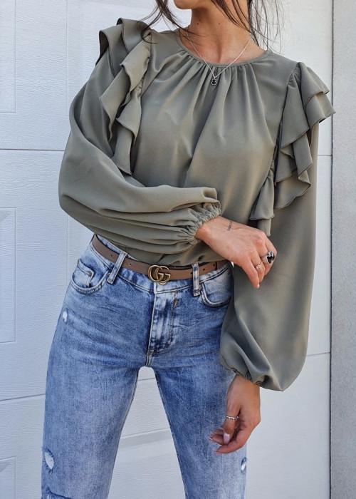 Bluzka Frill - khaki