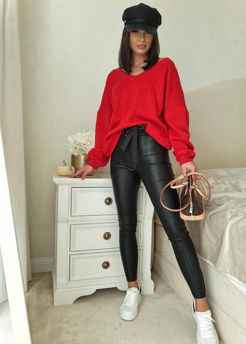 Bluza sweterkowa - czerwona