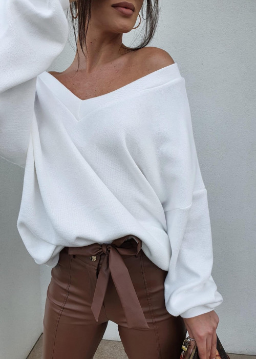 Bluza sweterkowa - śmietanka
