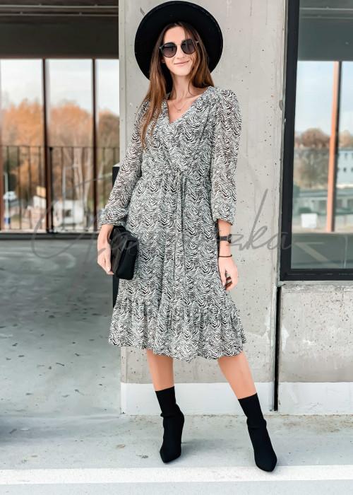 Sukienka Midi - zebra