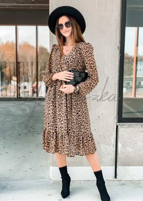 Sukienka Midi - panterka