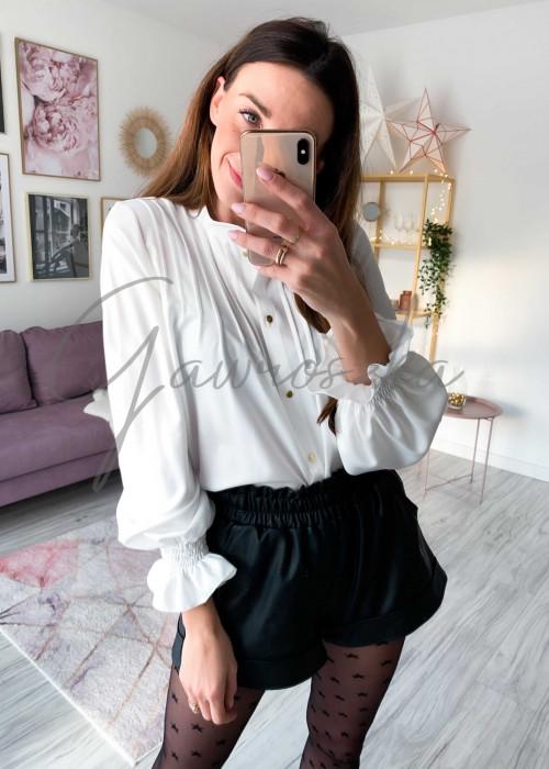 Koszula zaszewki - biała
