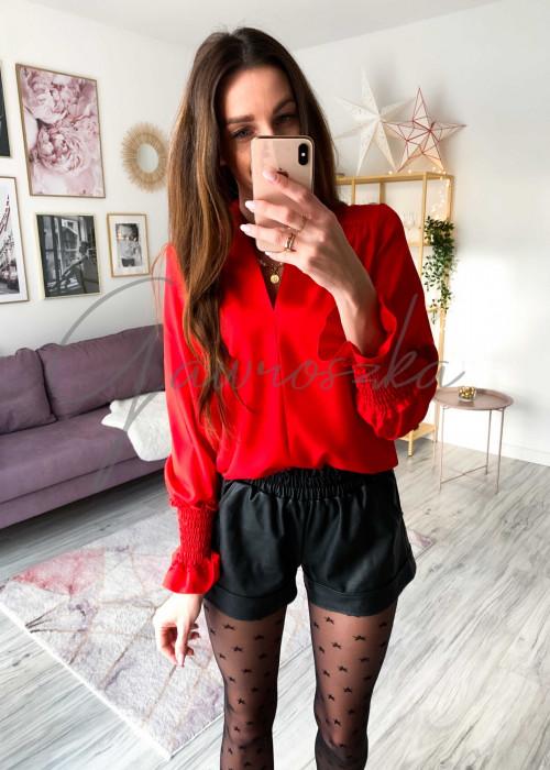 Koszula ze ściągaczem - czerwona
