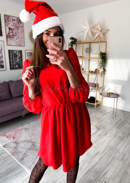 Sukienka z bufiastym rękawem -