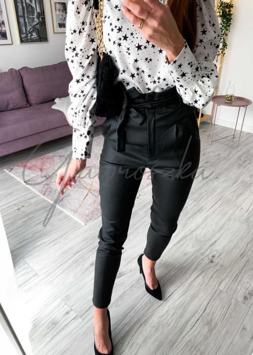 Spodnie z wiązaniem - czarne