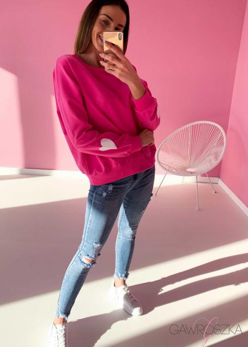 Bluza LOVE - malina