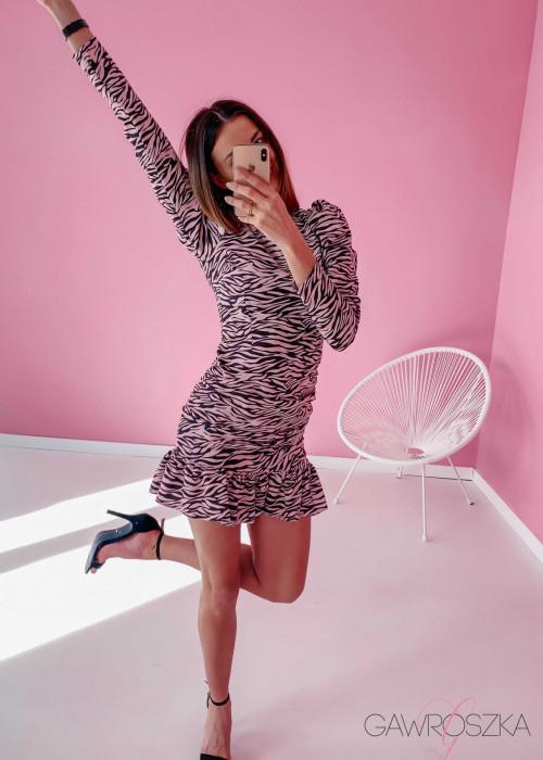 Sukienka Loren PREMIUM - zebra