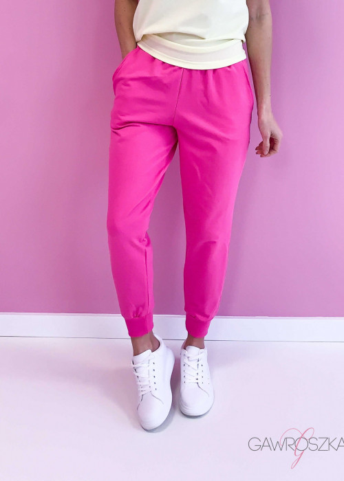 Spodnie dresowe - malinowe
