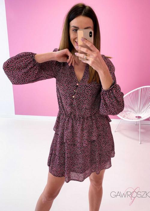 Sukienka Miluna neon centki
