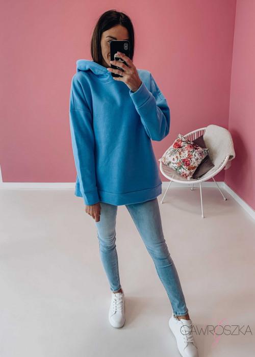 Bluza ocieplana - niebieska
