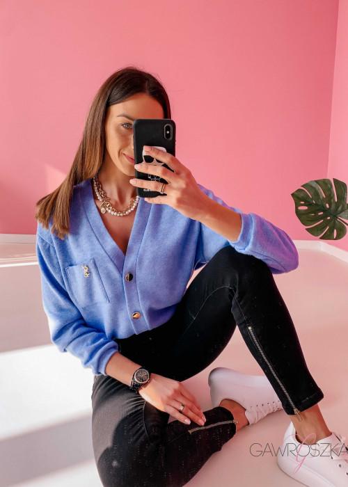 Sweter Pure - niebieski