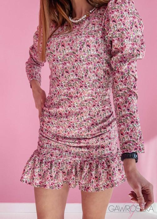 Sukienka Loren PREMIUM - kwiaty