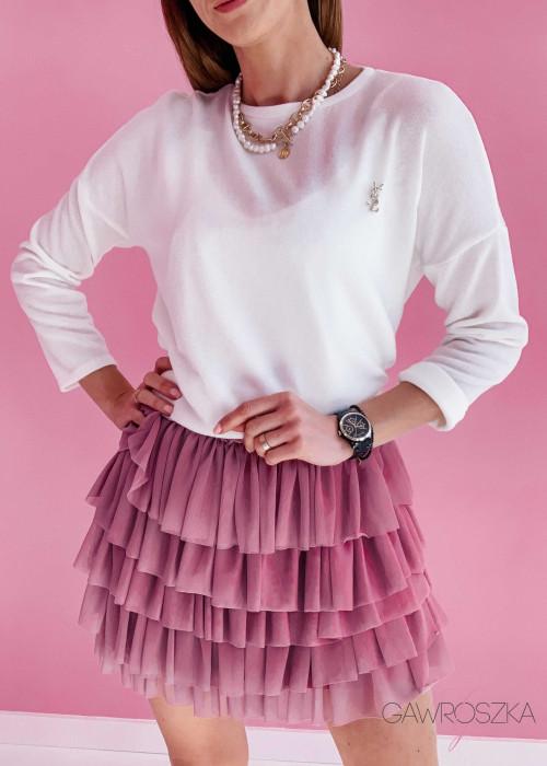 Sweter Mel - biały