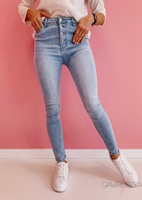 Spodnie jeans z wysokim stanem