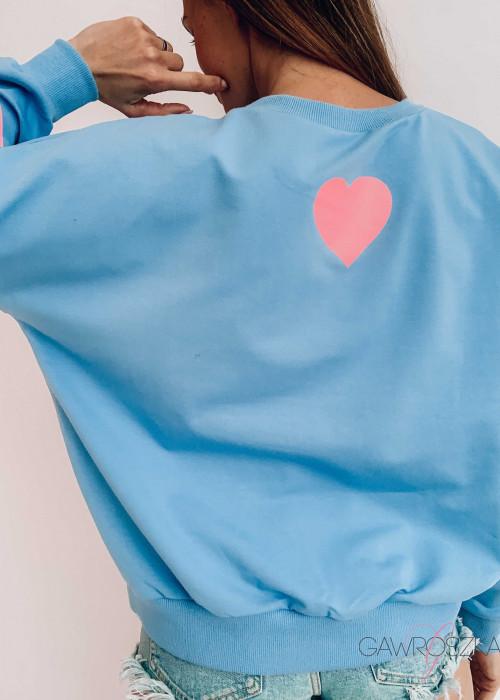 Bluza LOVE - błękitna