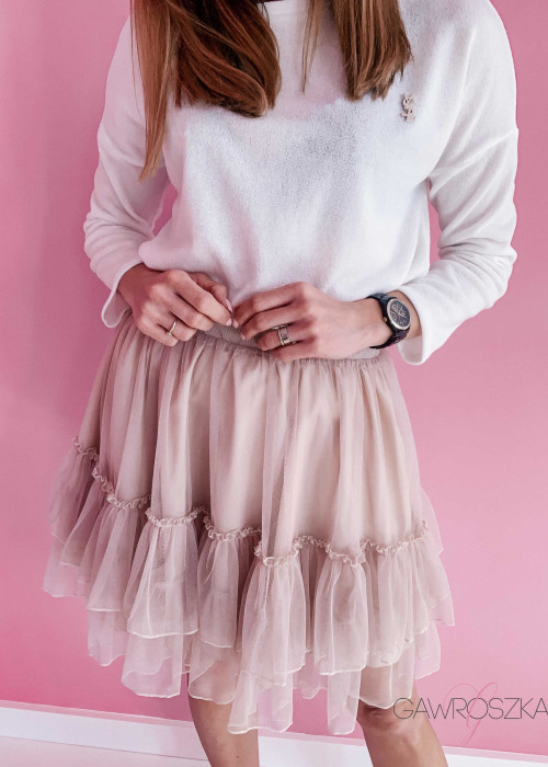 Spódnica tiulowa - beżowa