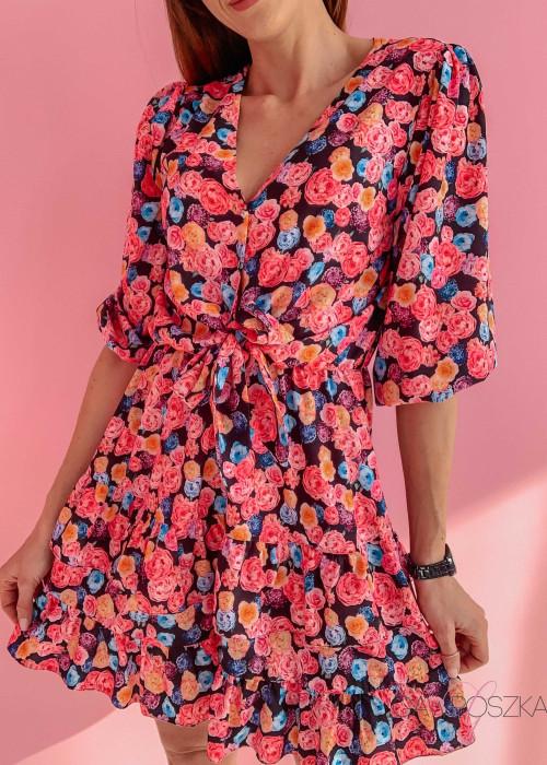 Sukienka Marcela - cukierkowe kwiaty