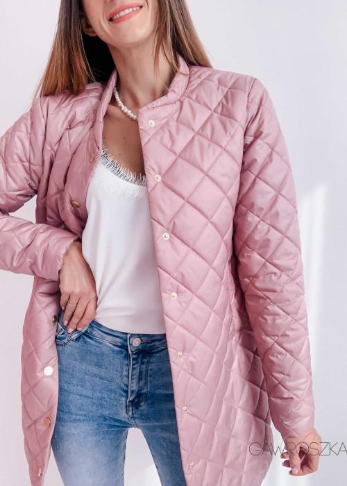 Płaszcz Stay - puder róż