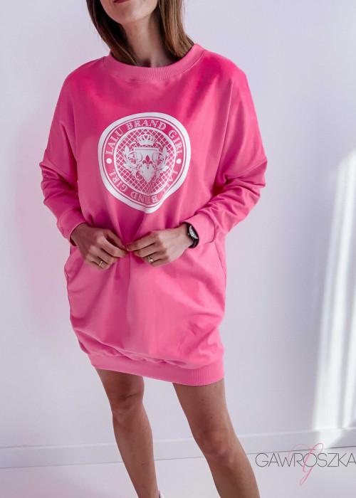 Bluzo - sukienka różowa