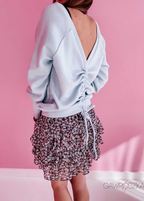 Sweter ze ściągaczem - miętowy
